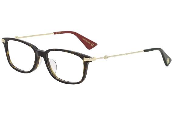 98517a08e71 Amazon.com  Eyeglasses Gucci GG 0112 OA- 002 AVANA   GOLD  Clothing