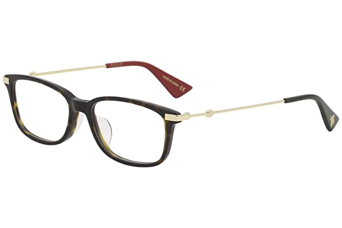 19875c0c50db Amazon.com  Eyeglasses Gucci GG 0112 OA- 002 AVANA   GOLD  Clothing
