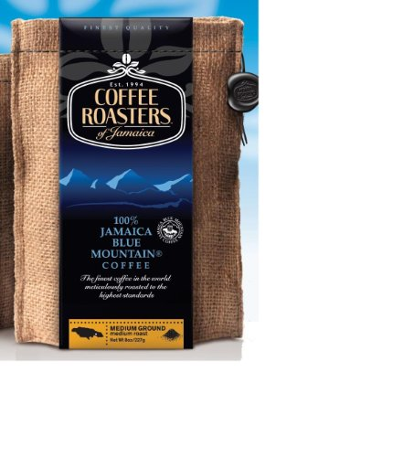 Jamaica Blue Mountain Coffee , Certified 100% Pure, Roasted Ground in a 1lb Sac (Coffee Roasters Of Jamaica Blue Mountain Coffee)