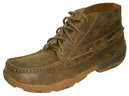Twisted X Boots Mens Bomber Chukka 10 D(M) US (Moccasin Chukka Boots)