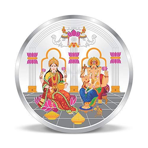 ACPL Precious Moments Maa Laxmi and Ganesh Ji 999 Pure Silver Coin