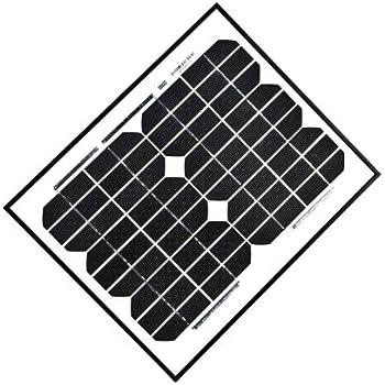 aleko 10w 10 watt monocrystalline solar panel garden outdoor. Black Bedroom Furniture Sets. Home Design Ideas