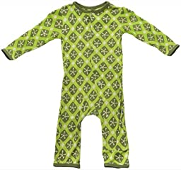 KicKee Pants Baby Boys\' Print Coverall (Baby) - Meadow Argyle Lattice - Green - Preemie
