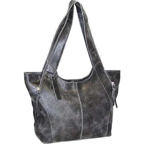 nino-bossi-crackle-zipper-tote-black