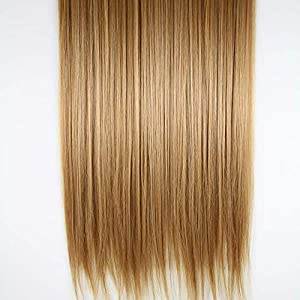 D-DIVINE 24 Inch Full Golden Straight Hair Extension For Women