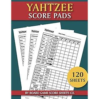 Yahtzee Score Pads - 120 Sheets: The Ultimate Yatzee Dice Game Score Sheets