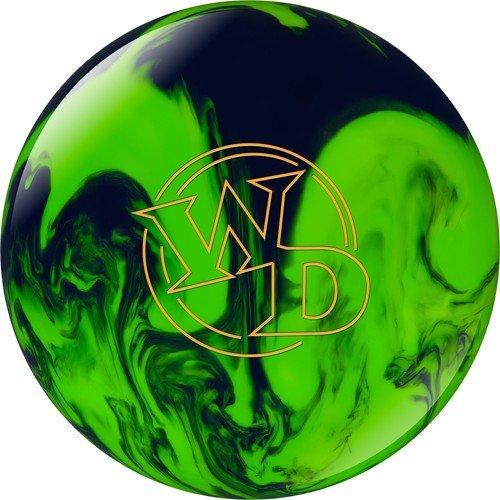White Dot Bowling Ball- Lime/Slime