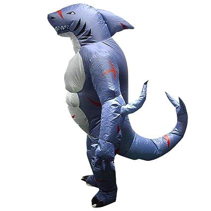 Fenteer Disfraz De Traje De Mono De Tiburón Inflable: Amazon ...