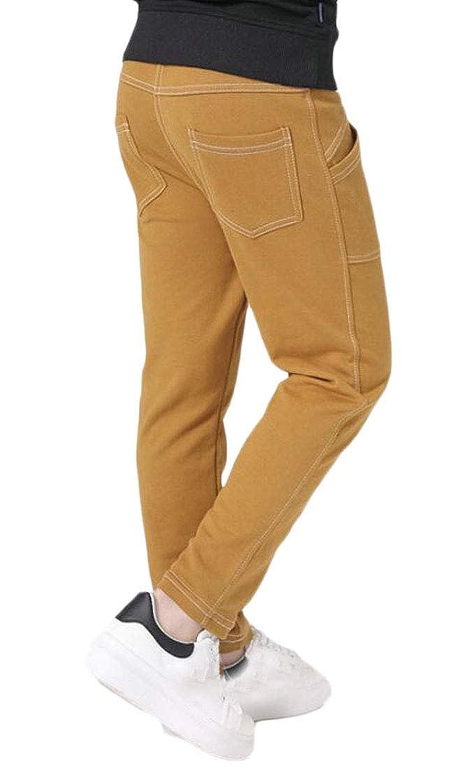 Wofupowga Boys Cute Casual Slim Fit Cotton Athletic Pure Color Pants