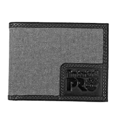 Timberland PRO canvas leather rfid blocking wallet - a slim compact wallet with lots of storage, 6 credit card pockets, 2 slip pockets, 1 cash bill pocket, a back id window, rfid protection and a gift box. What is rfid stands for radio freque...