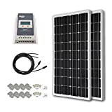 HQST 200 Watt 12 Volt Monocrystalline Solar Panel Kit with 40A MPPT Charge Controller