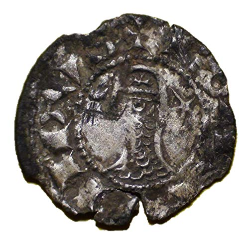 FR 12th-13th Centuries AD Medieval Crusader Knights Cross Antique Silver Coin of the Crusades Denier Good ()