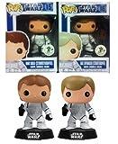 2012 SDCC POP! Funko Vinyl Bobble-head Star Wars Limited Edtion Set Luke Skywalker + Han Solo Stormtrooper Disguise Figure Comic-Con Exclusive ECCC
