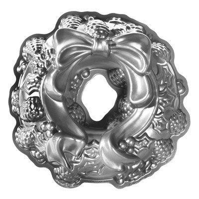 Nordicware Seasonal Holiday Wreath Bundt Pan in Grey by Nordic Ware