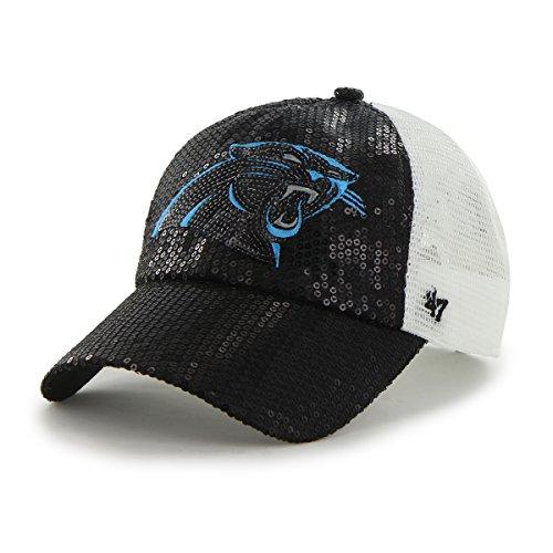 '47 NFL Carolina Panthers Women's Dazzle Mesh Sequin Clean Up Adjustable Hat, Black]()