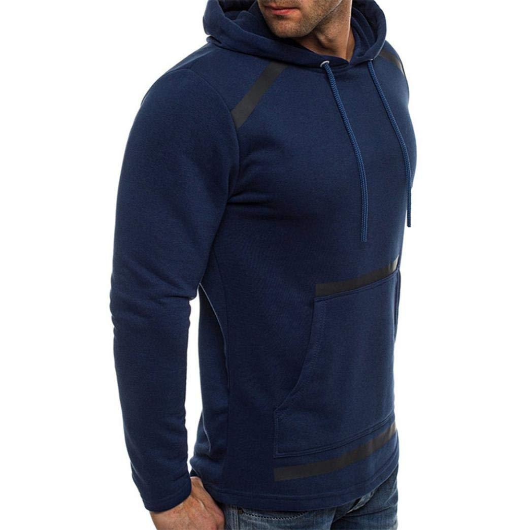 Manga larga de hombre BaZhaHei, Camiseta de manga larga con capucha de manga larga con costura en otoño e invierno de los hombres de invierno de manga larga ...