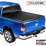 "Lund Genesis Elite Tri-Fold, Soft Folding Truck Bed Tonneau Cover | 95853 | Fits 1999 - 2006, 2007 Classic GMC/Chevy Sierra/Silverado 6' 6"" Bed"
