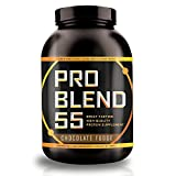 Pro Blend 55 Protein Powder – Low Carb Gainer & Meal Replacement Powder – Whey, Casein, Egg Albumin Protein – Chocolate Fudge – 2.2 Pound Review