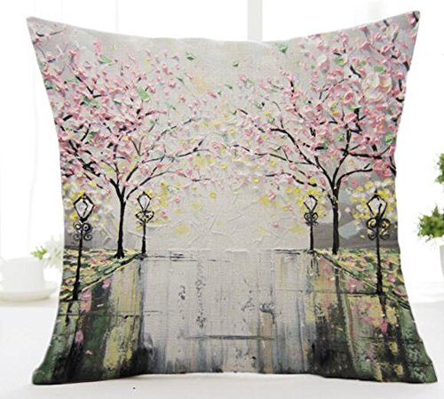 Painting Flower Cotton Cushion Decorative