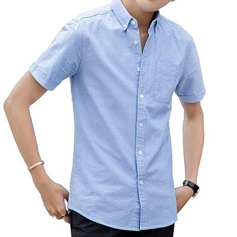 FFyy J Camisas de Manga Corta para Hombre Camisa de Manga Corta ...
