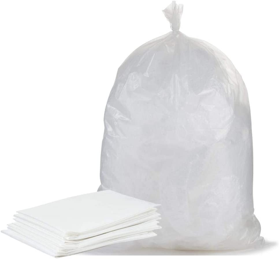 Plasticplace 12-16 Gallon Trash Bags ¦ 1.0 Mil ¦ Clear Tall Garbage Can Liners ¦ 24