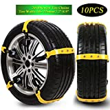 Dolloly Snow Tire Chains Anti Slip Chain Mud Chains Anti-slip Chains for Cars Truck SUV Tire Emergency Winter Driving 10PCS