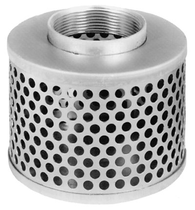 Suction Hose Round Hole Steel Strainer (1 1/2