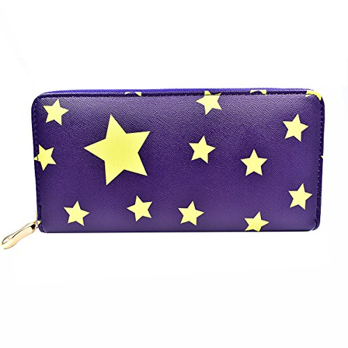 Handbag Holder Wallet Navy Purse Glitter star Card Shiny for Long Women Ladies Clutch Elegant pB7pCqwIW