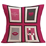 Pgojuni Lover's Gift Pillow Case Square Breathable Throw Pillow Cover Cushion Cover Decorative Square Accent Pillow Case 1pc (C)