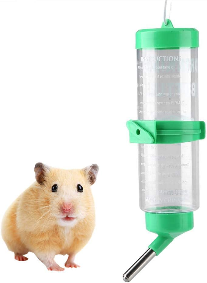 Botella para Beber para Mascotas, 250 ML Colgante automático Sin Goteo Botella para Beber de hámster Dispensador de Agua para Botella de Agua para Animales pequeños para Mascotas Perro Gato Ardillas
