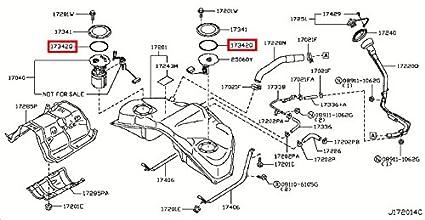 amazon com infiniti 17342 01a00 fuel pump tank seal automotive rh amazon com