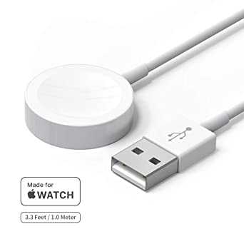 Watch Charger, Welldiea Watch Charger Charging Cable, Magnetic Wireless Portable Charger Pad 3.3 ft/1.0m Charging Cable Compatible with Apple Watch ...