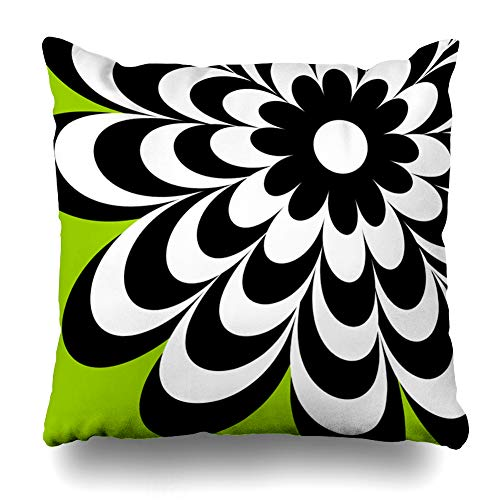 Pakaku Decorativepillows Case Throw Pillows Covers for Couch/Bed 20 x 20 inch,Chic Daisy Lime Green Modern Daisy Flower Home Sofa Cushion Cover Pillowcase Gift Bed Car Living Home
