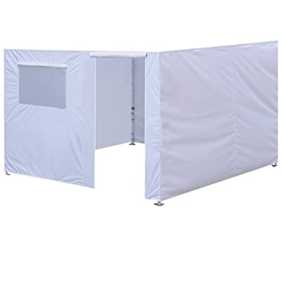 Eurmax Full Zippered Walls for 10 x 10 Easy Pop Up Canopy Tent, Enclosure Sidewall Kit with Roller Up Mesh Window and Door, 4 Walls ONLY, White : Garden & Outdoor