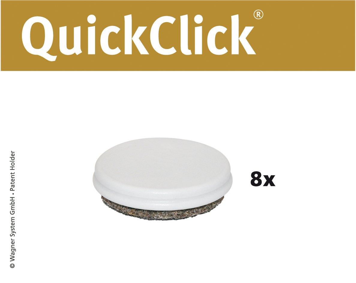 'Wagner QuickClick® Sedia gleiter//set di ricambio gleiter//Duo–Diametro 20mm–15833000 Wagner System GmbH
