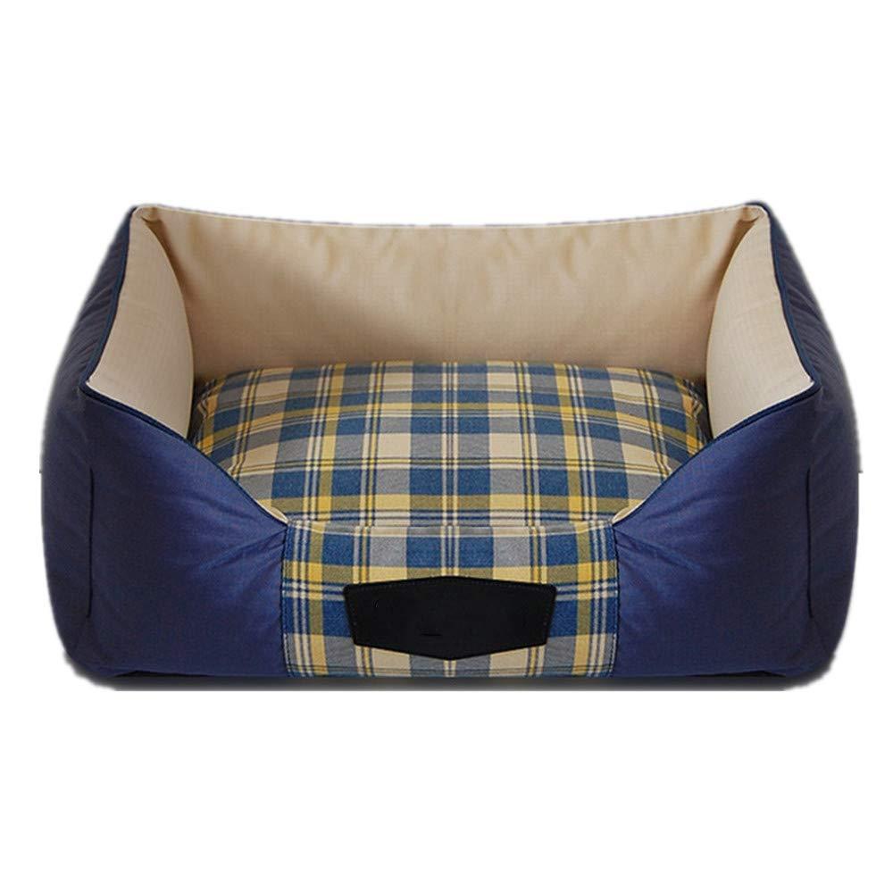 35x45 cm Mzdpp Luxury Canvas Comfortable Pet Bed Plaid Pillow Detachable Pet Square Mattress 35  45 Cm