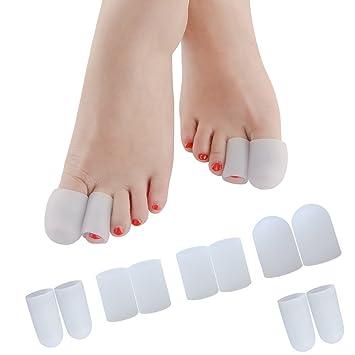 Amazon Povihome 足指 足爪 保護キャップ 親指 足先のつめ保護