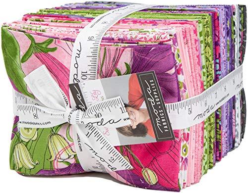 Moda Sweet Pea Lily Fat Quarter Bundle by Robin Pickens 48640AB