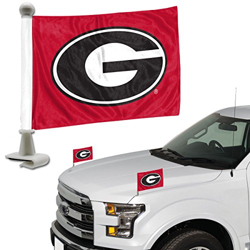 ProMark NCAA Georgia Bulldogs Flag Set 2Piece Ambassador Stylegeorgia Bulldogs Flag Set 2Piece Ambassador Style, Team Color, One (Georgia Bulldogs Ncaa Car Flag)