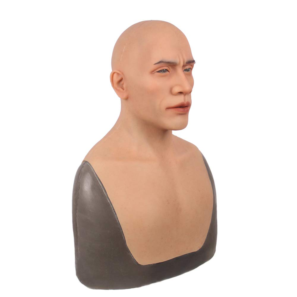 Man mask Silicone Realistic Full Head Masquerade Crossdresser Cosplayer Halloween Costume Party