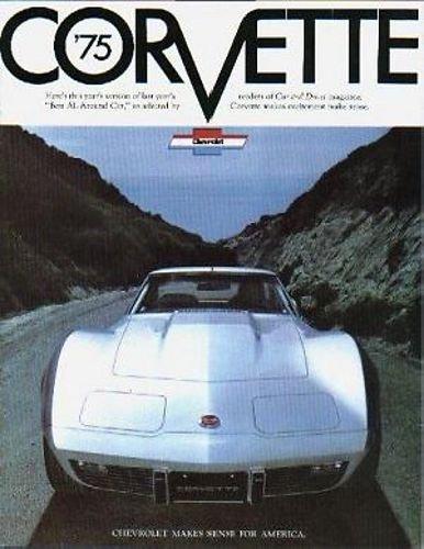 1975 CHEVROLET CORVETTE Sales Brochure Literature Book