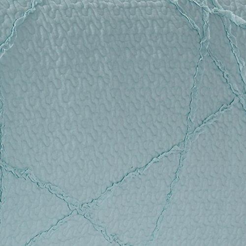 California Design Den Crazy Ruffled Breathable 100% Pure Cotton Luxury Quilt Sets, Full/Queen, Spa Blue, 3 Piece by California Design Den (Image #1)