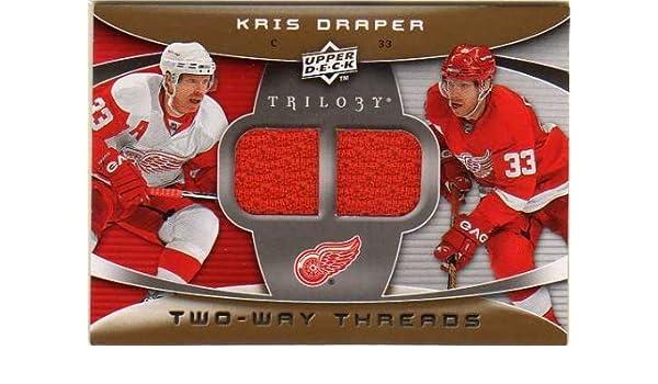 2008-09 Upper Deck Trilogy Two-Way Threads 2WKD Kris Draper Game-Worn Kris  Draper Signed 8x10 Photograph Red Wings - Certified Genuine ... 897f91584
