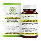 Ashwagandha Blend – Anxiety & Stress Relief – 1.5% Root Extract + Organic Root Powder | Guaranteed Potency | Mood & Energy Support. 100% Vegetarian and Gluten Free. 90 Veggie Capsules.