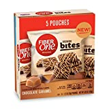 Fiber One Brownie Bites Chocolate Caramel Brownies 5 Pouches-1.17 oz. , (Pack of 8)