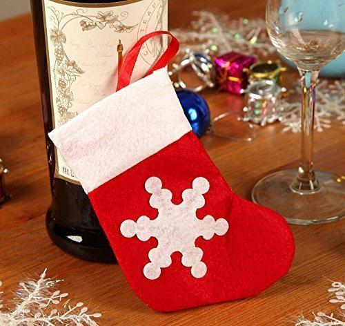 WeiMay No/ël D/écorations 12PCS Chaussettes de No/ël Plateau /à Couverts Bas Couverts Dinner Party de No/ël D/écor de Table