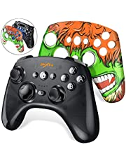 DinoFire Wireless Controller for Nintendo Switch Black PXN Pro Gamepad Controller with Extra Green Cover Skin