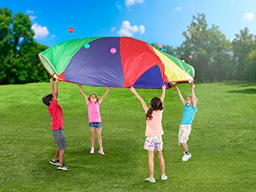 POCO DIVO 12-Foot Play Parachute Kids Canopy Children Wind Tent ()