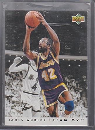 7b2420a39c4 1992 Upper Deck James Worthy Lakers Team MVP Basketball Card #TM14 ...