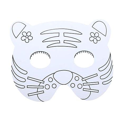 Merymall Máscara De Pintura Animal De Dibujos Animados Para Niños
